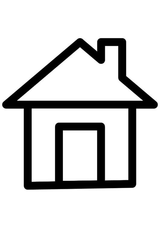 Disegno da colorare casa disegni da colorare e stampare for Casa disegno