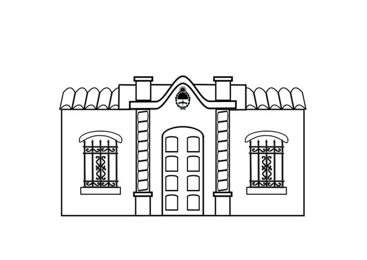 Disegno da colorare casa cat 29542 for Casa disegno