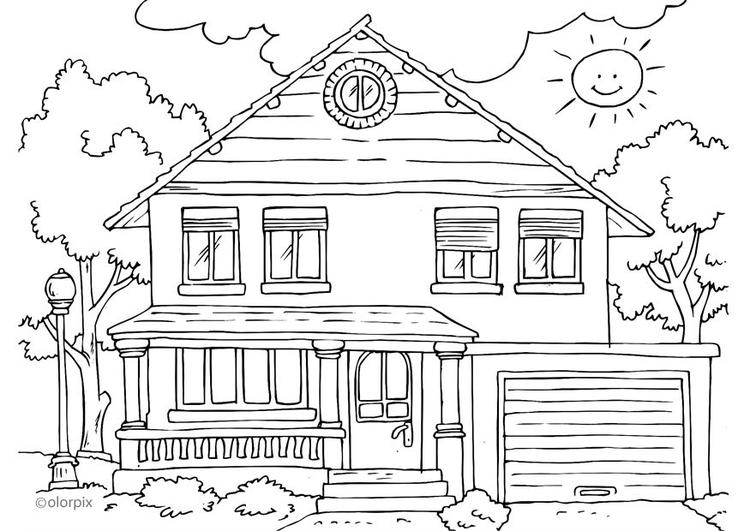 Disegno Da Colorare Casa Esterno Cat 25996