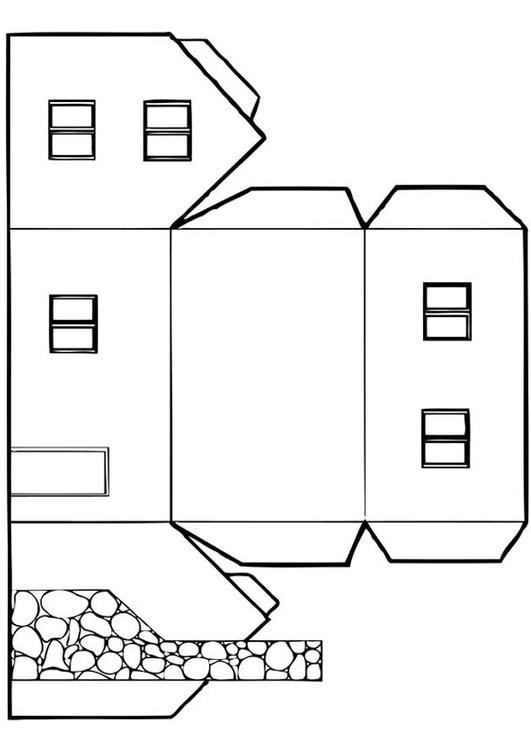 Disegno da colorare casa cat 12828 for Casa immagini da colorare