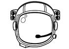 Disegno da colorare casco da astronauta