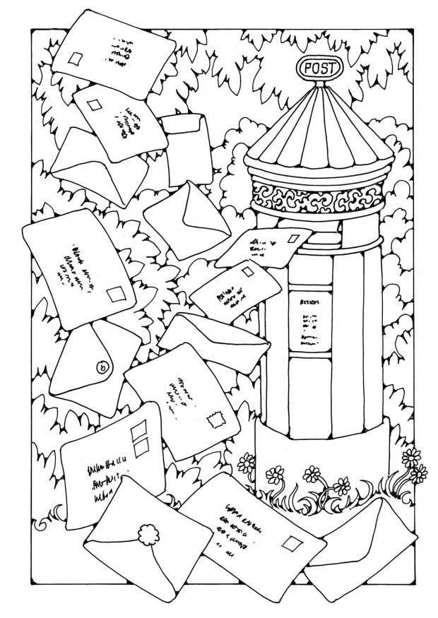 Disegno Da Colorare Casetta Delle Poste Cat 19603
