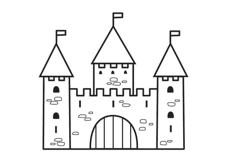 Disegno Da Colorare Castello 2 Cat 23125