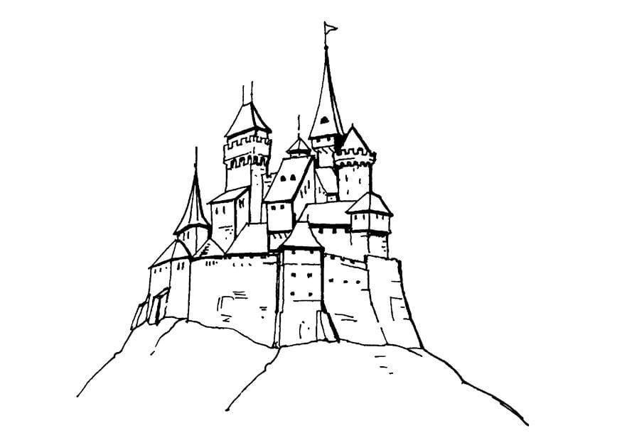 Koning Middeleeuwen Kleurplaat Disegno Da Colorare Castello Disegni Da Colorare E