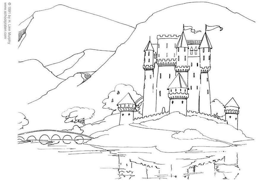 disegno da colorare castello