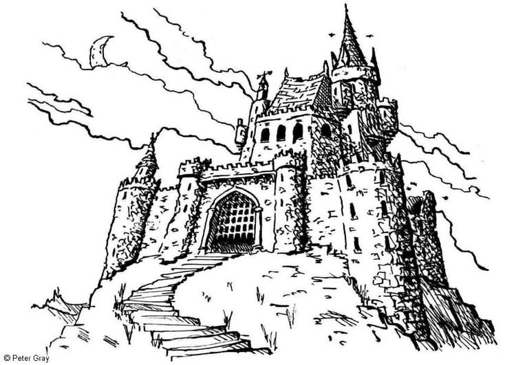 Disegno Da Colorare Castello Cat 6927