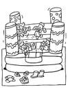 Disegno da colorare castello gonfiabile