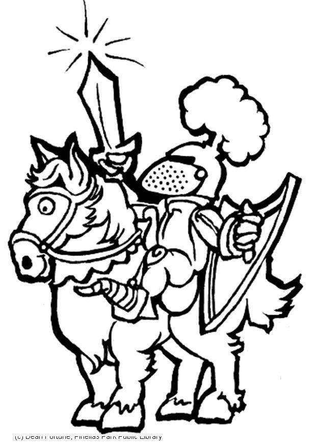 Disegno da colorare cavaliere cat 5965 - Cavaliere libro da colorare ...