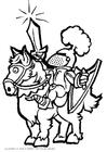 Disegno da colorare cavaliere