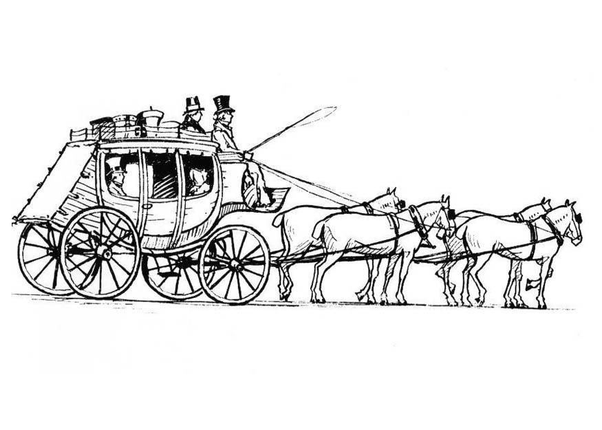 Disegni Da Colorare Cavalli Con Carrozza.Disegno Da Colorare Cavalli Con Carrozza Disegni Da Colorare E Stampare Gratis
