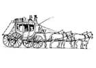 Disegno da colorare cavalli con carrozza