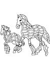 Disegno da colorare cavalli