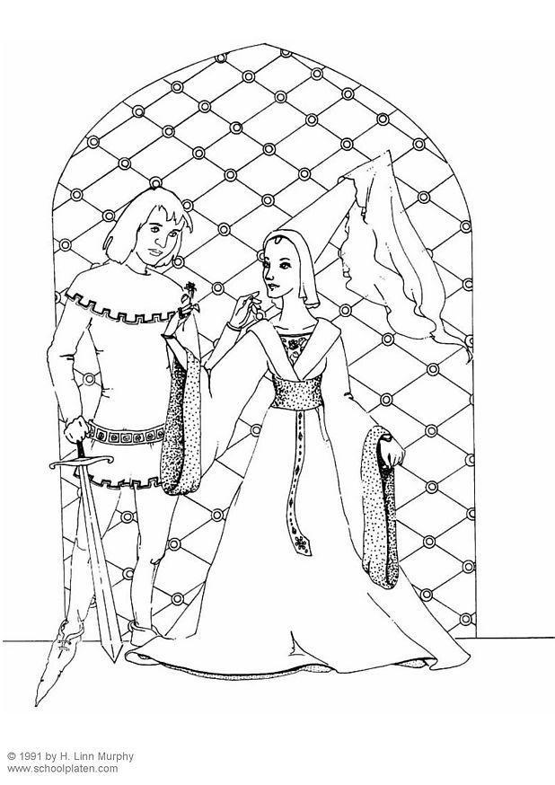Disegno Da Colorare Cavalliere E Dama Cat 3834 Images