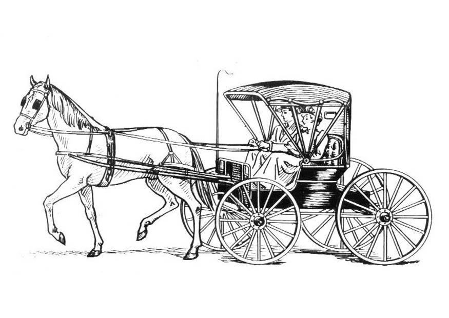 Disegno da colorare cavallo con carrozza cat 18982 for Cavallo da disegnare per bambini
