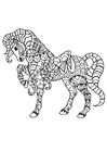 Disegno da colorare cavallo con sella