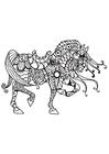 Disegno da colorare cavallo di cavaliere