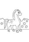 Disegno da colorare cavallo in movimento