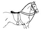 Disegno da colorare cavallo sellato
