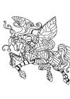 Disegno da colorare cavallo volante