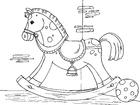 Disegno da colorare cavalluccio a dondolo