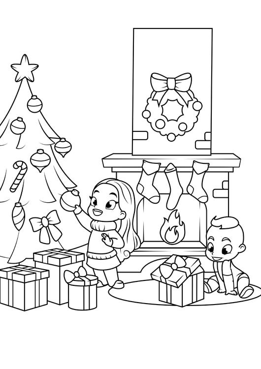 Disegni Da Colorare Gratis Di Natale.Disegno Da Colorare Celebrare Il Natale Disegni Da Colorare E Stampare Gratis Imm 31085