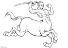 Disegno da colorare centauro