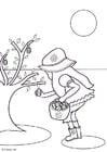 Disegno da colorare cercare le uova di Pasqua