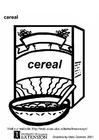 Disegno da colorare cereali