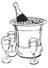 Disegno da colorare champagne