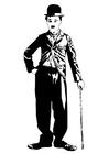 Disegno da colorare Charlie Chaplin