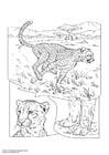 Disegno da colorare cheetah