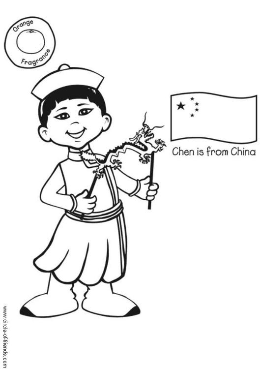Disegno Da Colorare Chen Dalla Cina Cat 5617