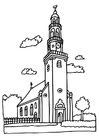 Disegno da colorare chiesa