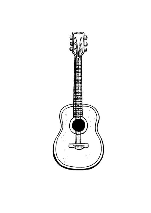 Disegno Da Colorare Chitarra Cat 9583