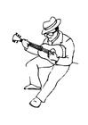 Disegno da colorare chitarrista