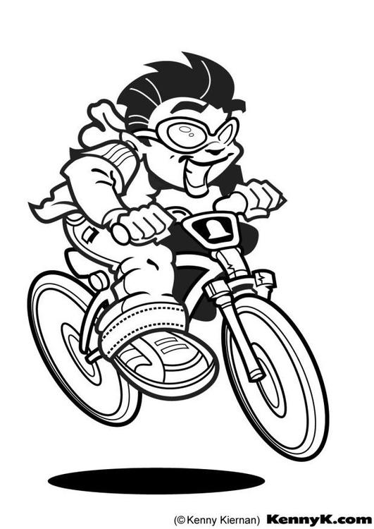 Disegno da colorare ciclista cat 10503 images for Bicicletta immagini da colorare