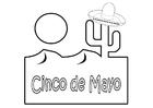 Disegno da colorare Cinco de Mayo
