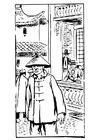 Disegno da colorare cinese