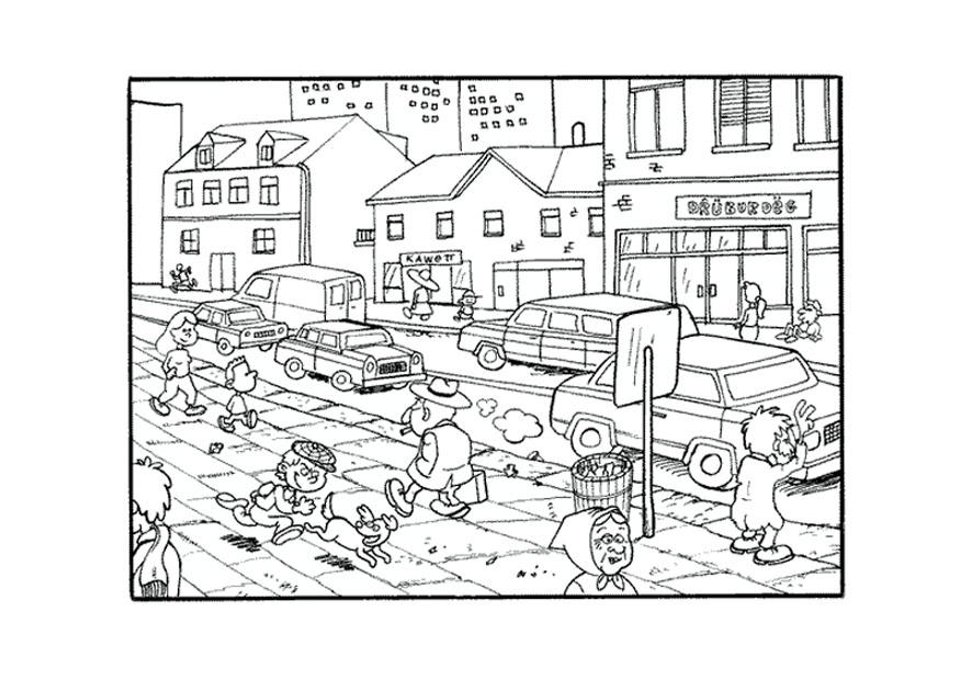 rural community coloring pages - photo#39