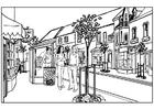 Disegno da colorare città