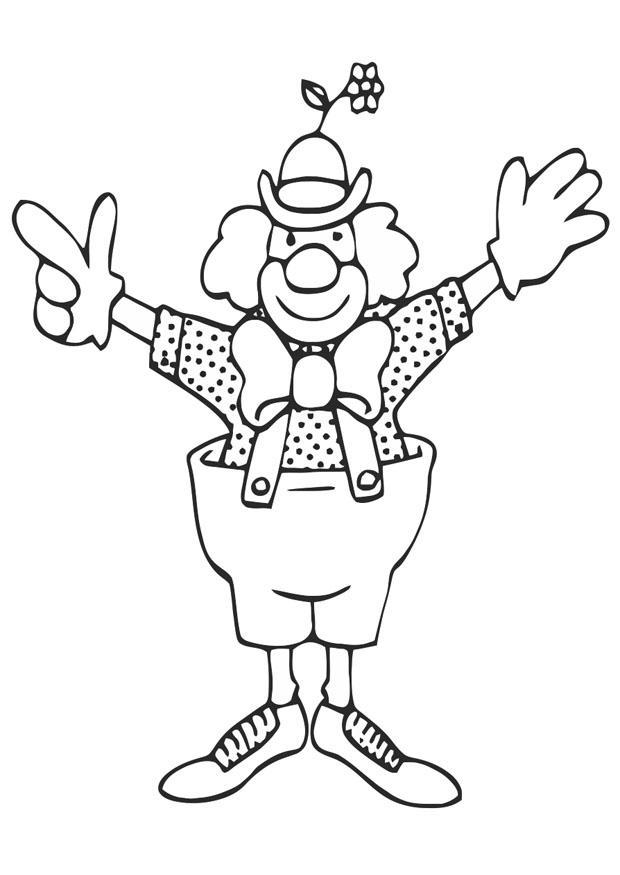 Disegno da colorare clown cat 20676 for Disegno pagliaccio da colorare
