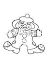 Disegno da colorare clown