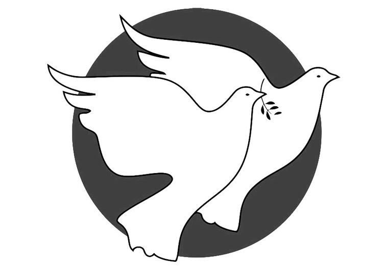 Disegno Da Colorare Colombe Della Pace