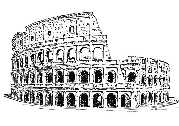 disegno da colorare colosseo cat 13265