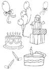 Disegno da colorare compleanno