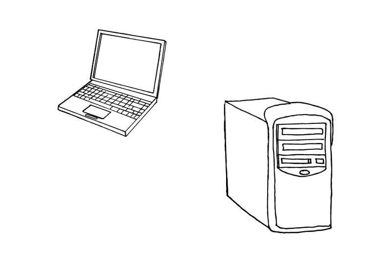 Disegno Da Colorare Computer Cat 10426 Images