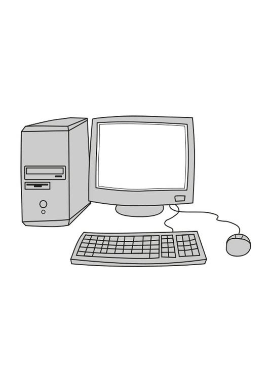 Disegno Da Colorare Computer Cat 25546 Images