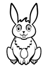 Disegno da colorare coniglietto di pasqua