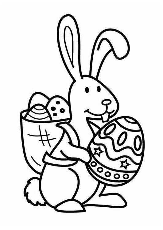 Disegno Da Colorare Coniglietto Pasquale Cat 26455