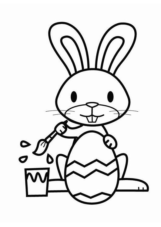 Disegno Da Colorare Coniglietto Pasquale Cat 26457